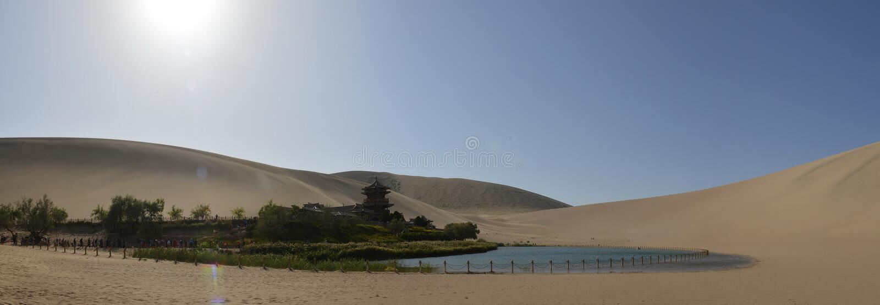 Le panorama sur le lac du Croissant image libre de droits