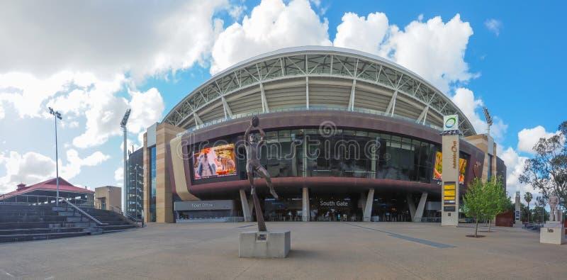 Le panoramique d'Adelaide Oval est un au sol de sports, situé dans les espaces verts entre Adelaïde de centre de la ville et du n images libres de droits