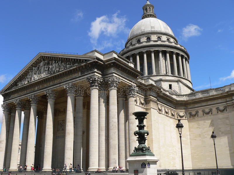 Le Pantheon, Parijs (Frankrijk) stock afbeeldingen
