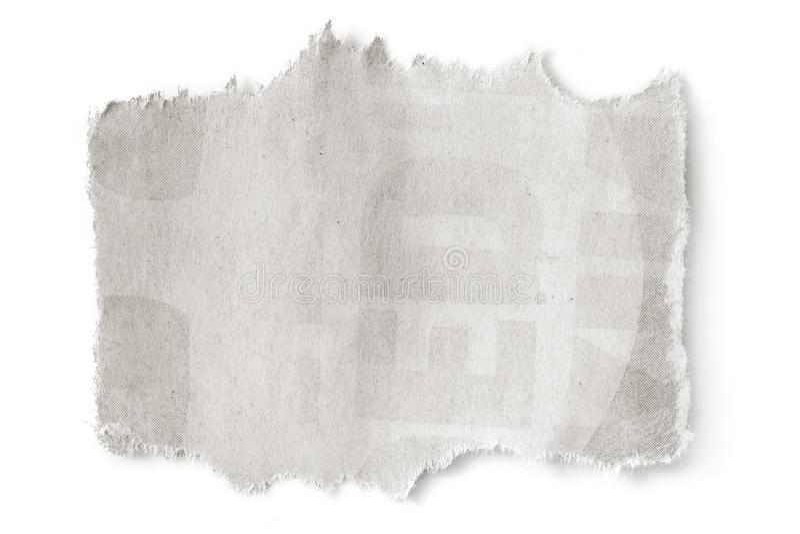 Le papier blanc déchiré avec CopySpace a isolé photos stock