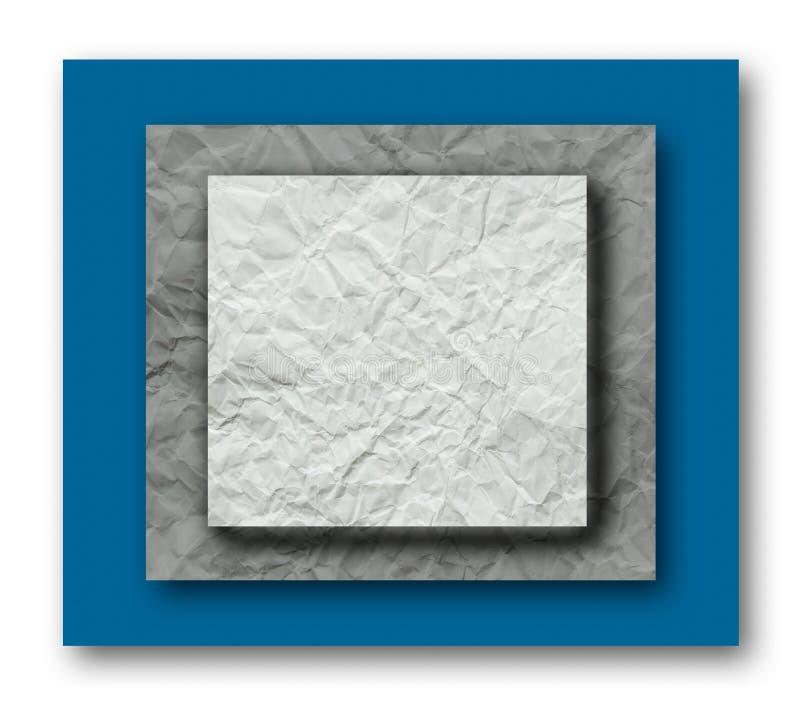 Couche de papier chiffonnée illustration libre de droits