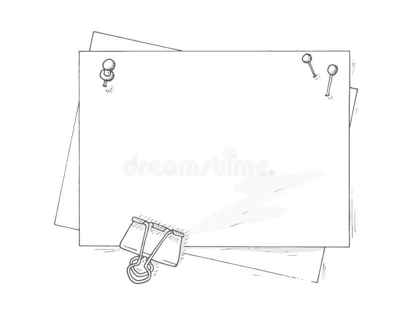 Le papier couvre la maquette illustration de vecteur