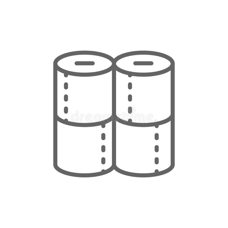 Le papier hygiénique roule la ligne icône illustration libre de droits