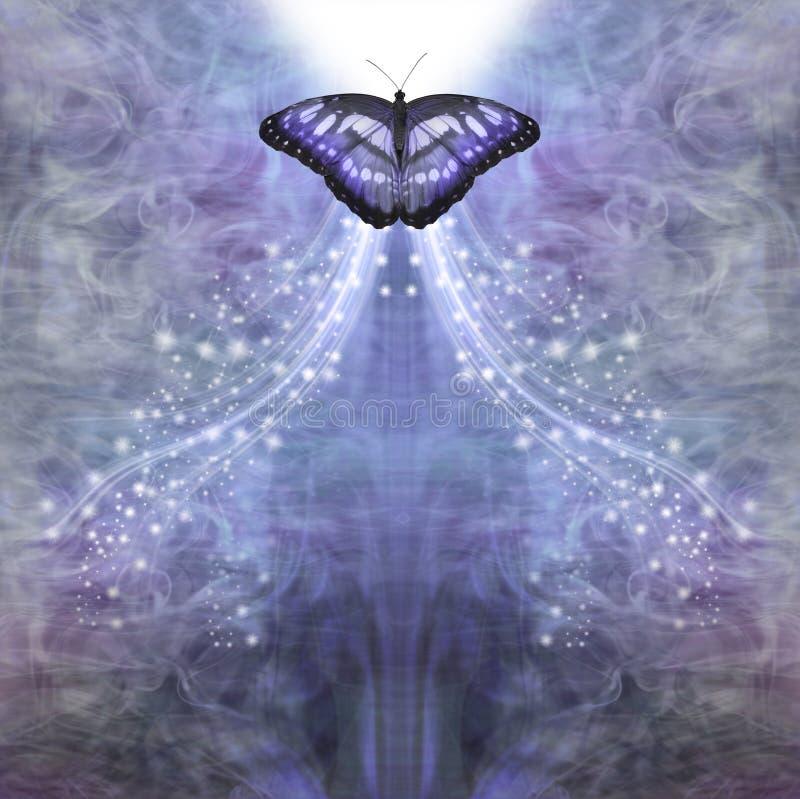 Le Papillon bleu passe dans la lumière photos libres de droits