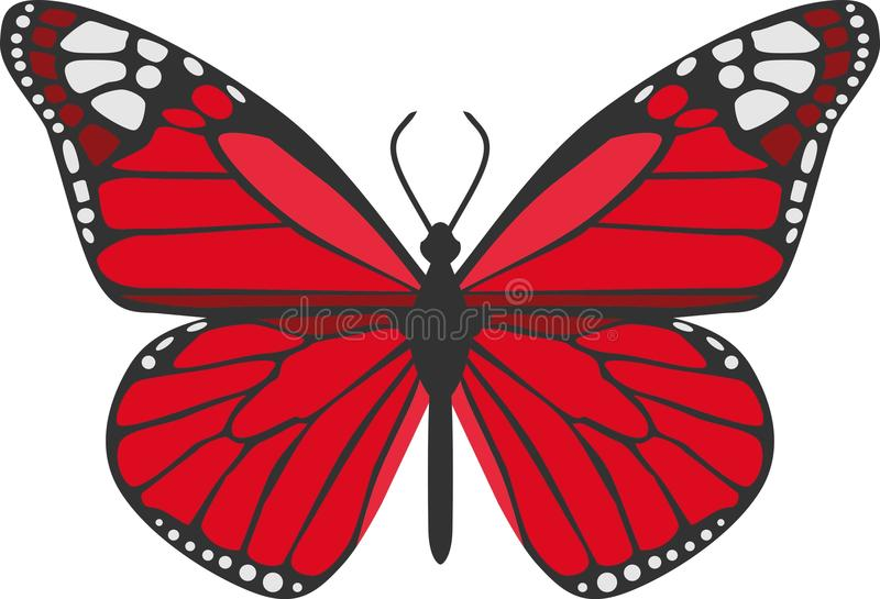 Le papillon rouge illustration libre de droits