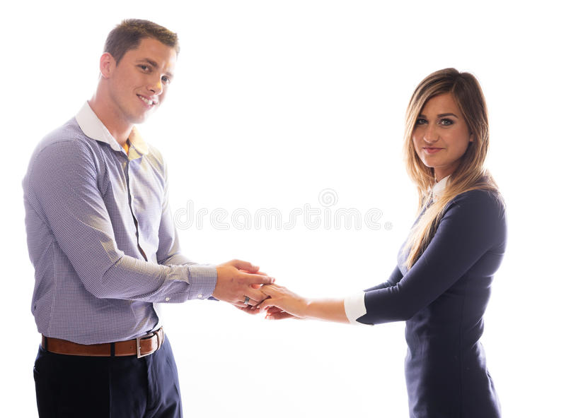 Le par som rymmer varje andra händer arkivfoto