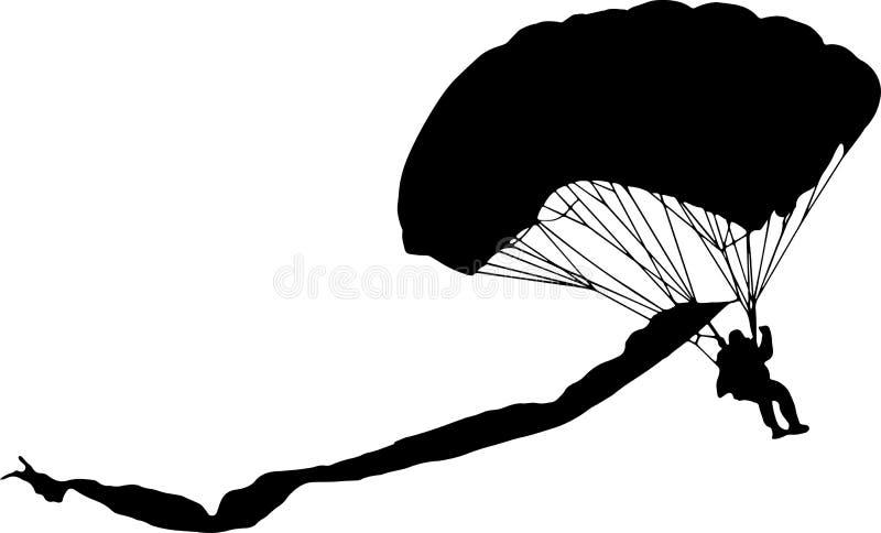 Le parachutiste illustration libre de droits