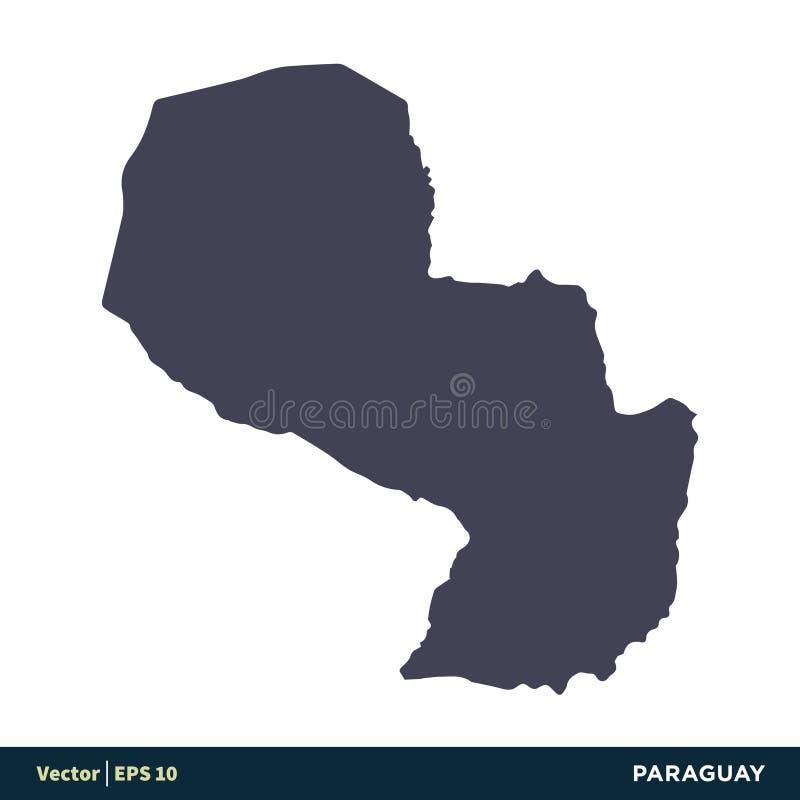 Le Paraguay - les pays de l'Amérique du Sud tracent le vecteur Logo Template Illustration Design d'icône Vecteur ENV 10 illustration libre de droits