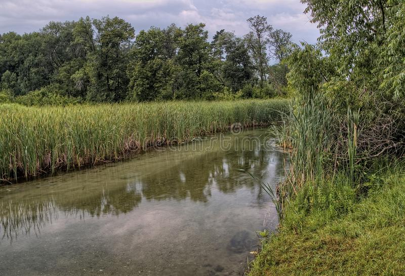 Le parc d'état de Glendalough est situé près du lac battle et du lac Ottertail, Minnesota photographie stock libre de droits