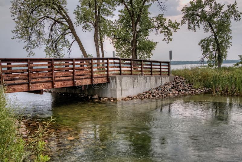 Le parc d'état de Glendalough est situé près du lac battle et du lac Ottertail, Minnesota photos libres de droits