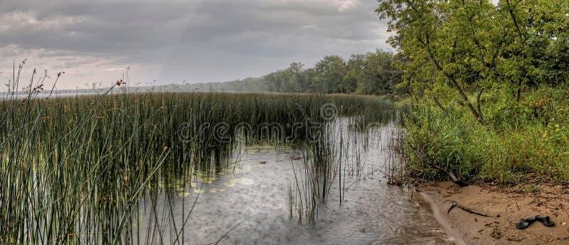 Le parc d'état de Glendalough est situé près du lac battle et du lac Ottertail, Minnesota photo stock