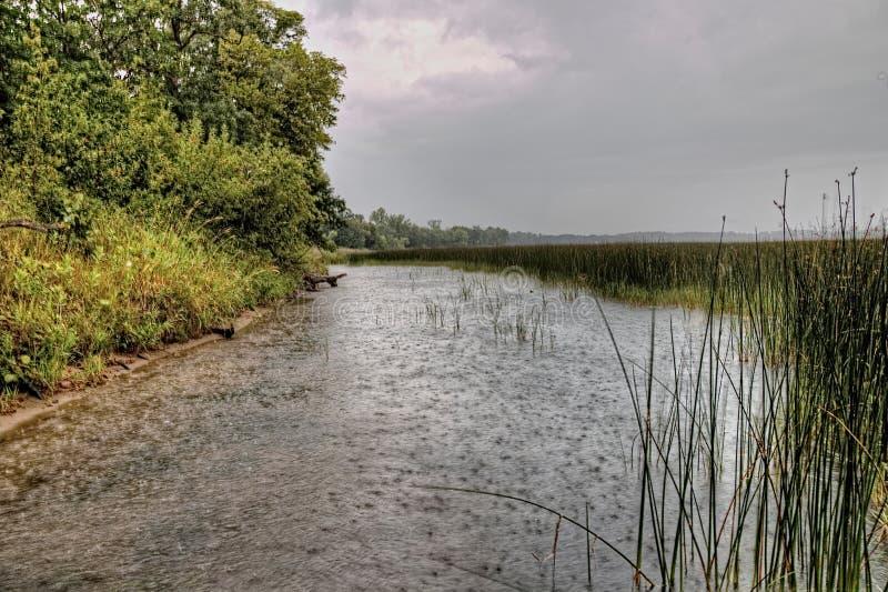 Le parc d'état de Glendalough est situé près du lac battle et du lac Ottertail, Minnesota photos stock
