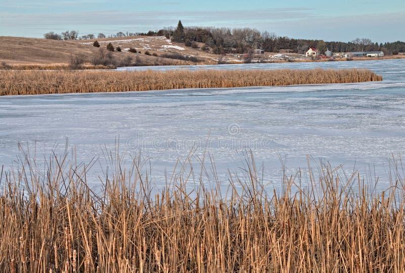 Le parc d'état de lacs oakwood est dans l'état du Dakota du Sud près de Brookings image stock