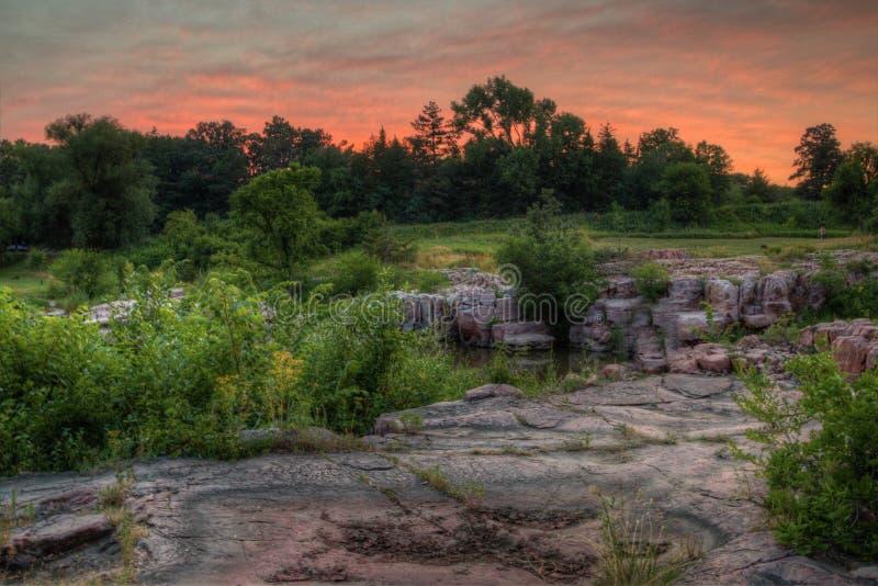 Le parc d'état de palissades est dans le Dakota du Sud par Garretson image stock