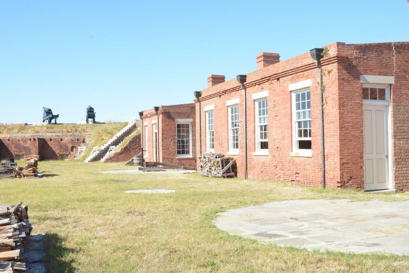 Le parc d'état de repli de fort est un parc d'état de la Floride, situé sur une péninsule près du point le plus au nord d'Amelia  photos libres de droits