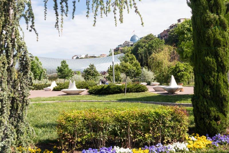 Le parc de Rike est le secteur récréationnel central à Tbilisi, la Géorgie images libres de droits