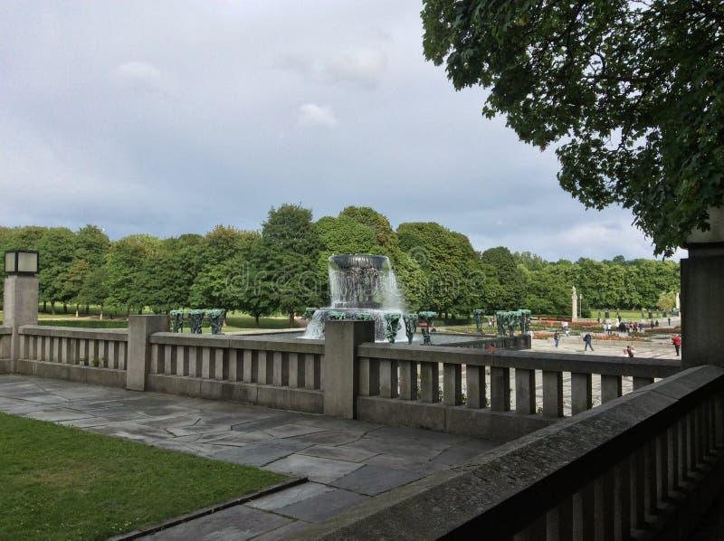 Le parc de Vigeland, Oslo, Norvège image libre de droits