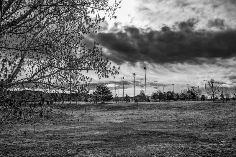 Le parc en premier ressort photo stock
