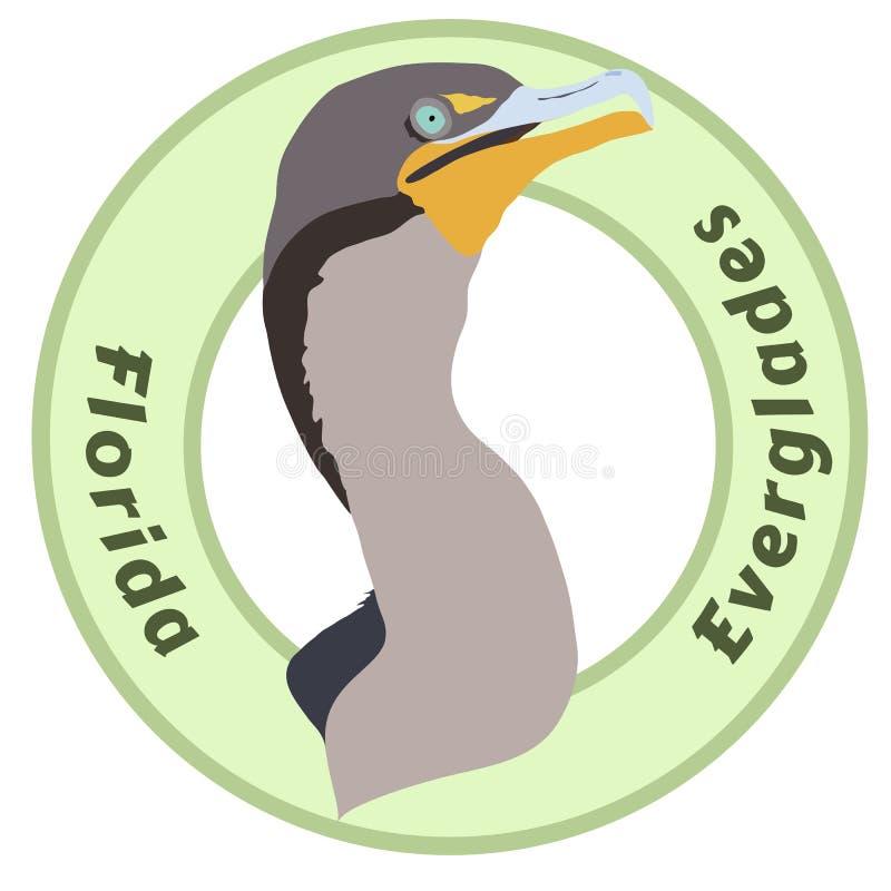 Le parc national Cormorant de marais de la Floride a détaillé la conception de vecteur illustration de vecteur