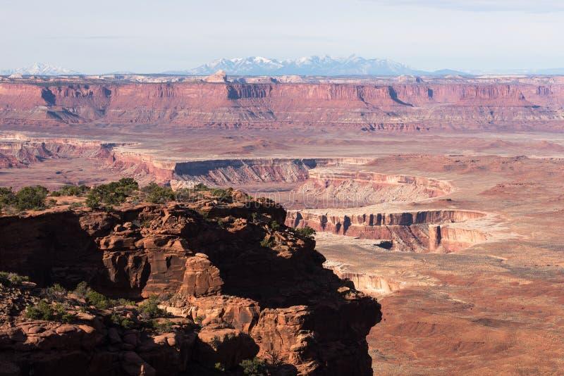 Le parc national de Canyonlands, île dans le ciel donnent sur image stock