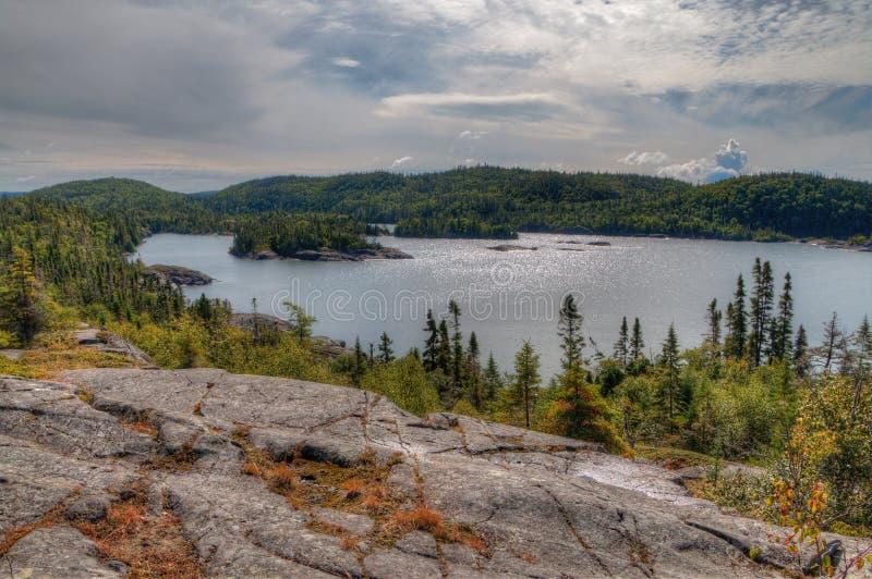 Le parc national de Pukaskwa est sur les rivages du lac Supérieur dans Ontario du nord, Canada photo libre de droits