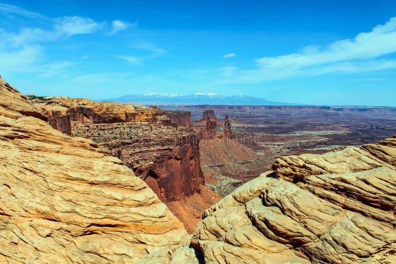 Le Parc national des Arches en contours image stock