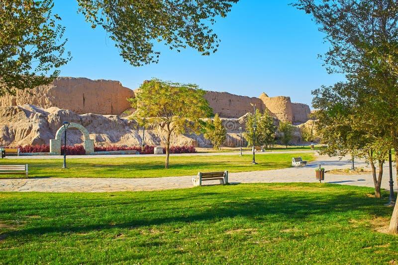 Le parc vert de Mellat, Kashan, Iran image libre de droits