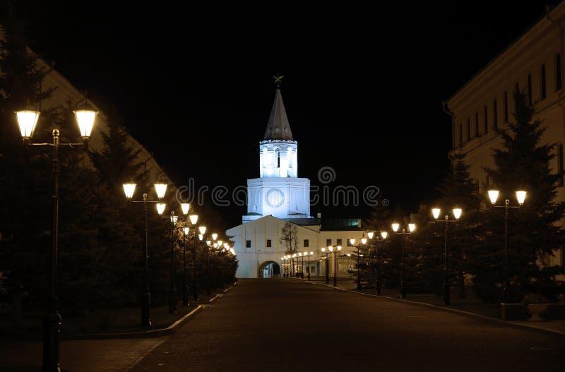 Le pareti del Cremlino di Kazan fotografia stock