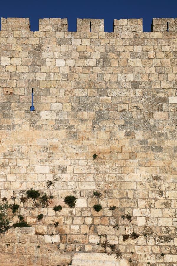 Le pareti di Gerusalemme immagine stock