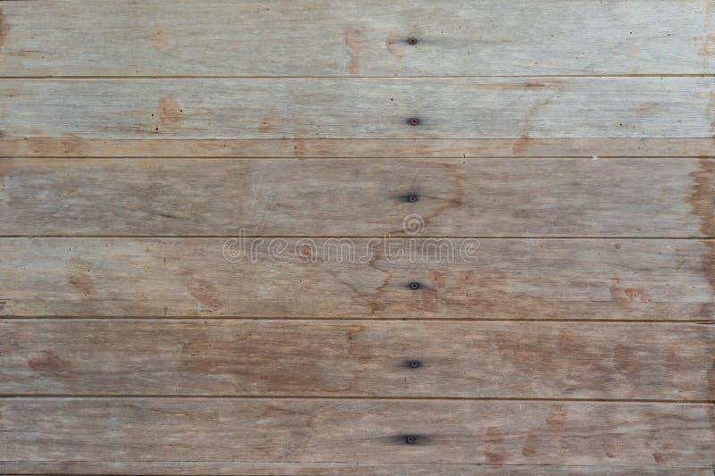 Le pareti di legno hanno fatto di legname segato vengono come le pareti e chiodi a tenere Originale tailandese d'annata della dec fotografie stock