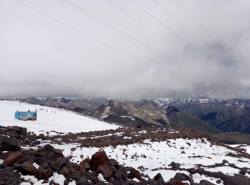 Le parking de grimpeurs à la taille des mètres 3800 images stock