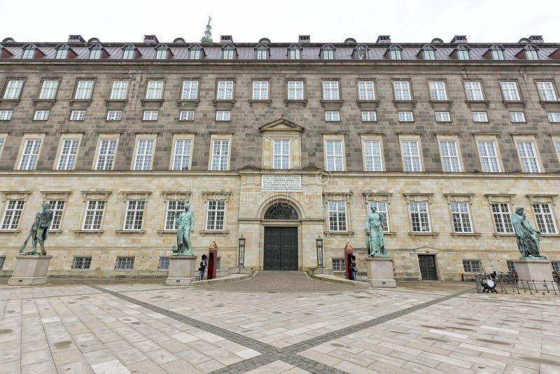le parlement à la maison danois de palais de christiansborg photographie stock libre de droits