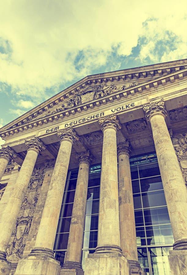 Le Parlement allemand construisant Reichstag à Berlin, Allemagne images libres de droits