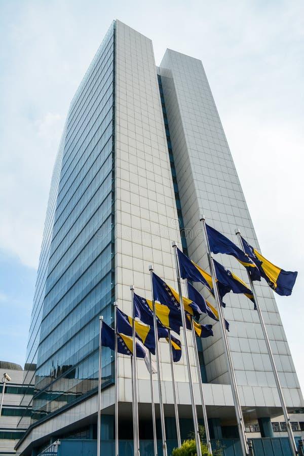 Le parlement bosnien à Sarajevo photo libre de droits