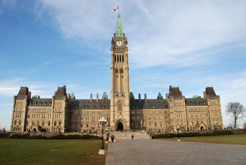 Le Parlement Buldings Ottawa, Ontario image stock