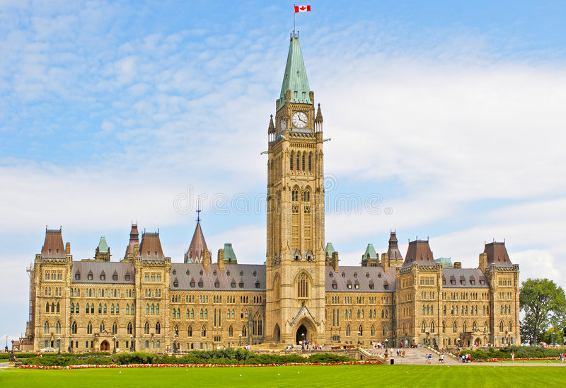 Le parlement canadien image stock