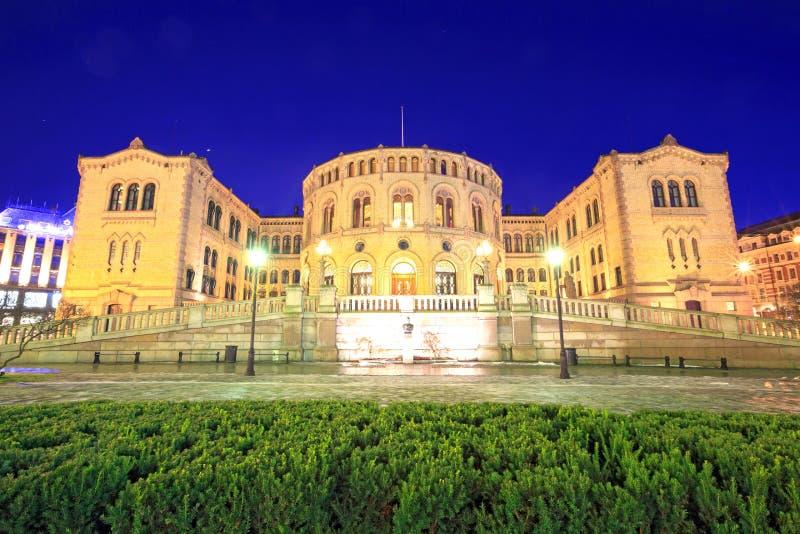 Le Parlement d'Oslo photos stock