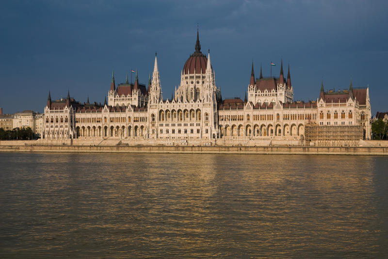 Le Parlement de Budapest photo libre de droits
