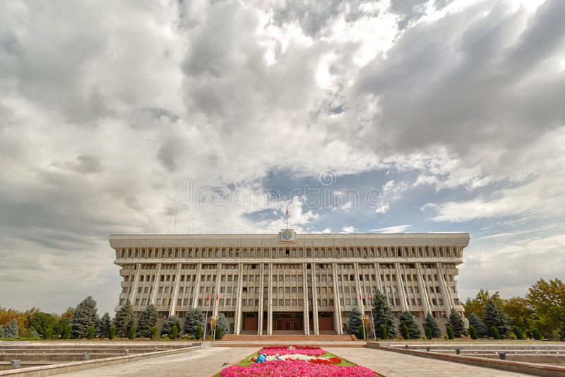 Le parlement de la république du Kyrgyzstan photo stock