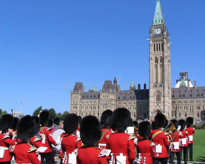 Le Parlement du Canada, garde d'honneur images libres de droits