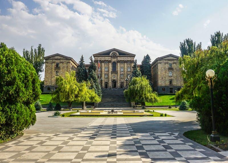 Le parlement national d'Erevan image stock