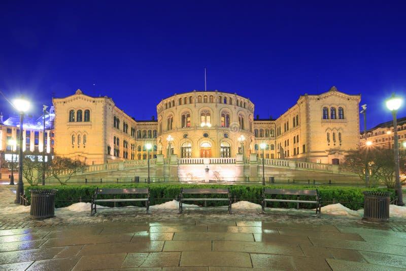 Le Parlement Norvège d'Oslo photos libres de droits