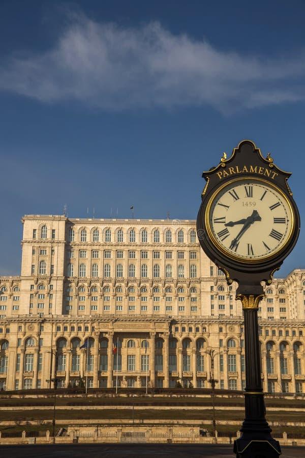 Le Parlement roumain (maison Poporului) images libres de droits