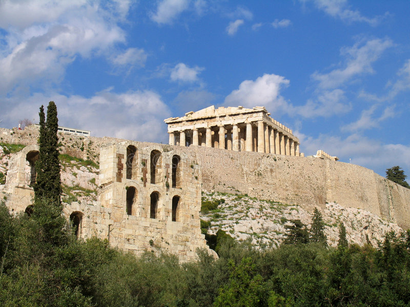 Le parthenon image stock