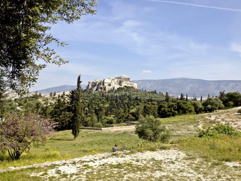 Le parthenon sur l'Acropole à Athènes Grèce image libre de droits