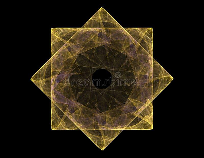 Le particelle del frattale astratto si forma a proposito di scienza di fisica nucleare e di progettazione grafica Quantità futuri fotografia stock libera da diritti