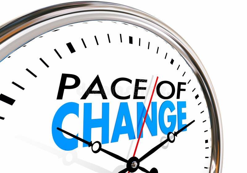 Le pas de la mise à jour de changement adaptent l'horloge d'évolution illustration libre de droits
