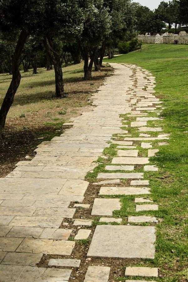 Le passage couvert de pierre de promenade de Haas image libre de droits