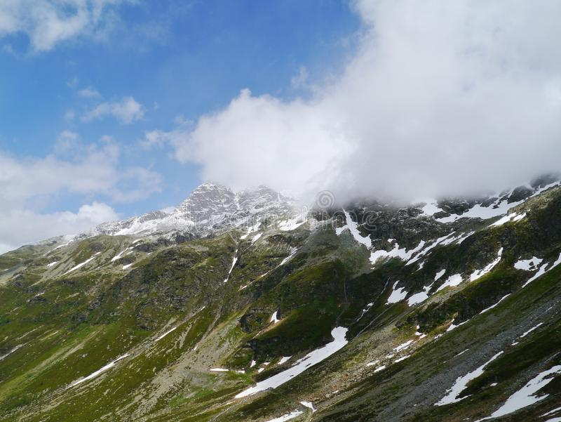 Le passage de spluegen en Suisse image libre de droits