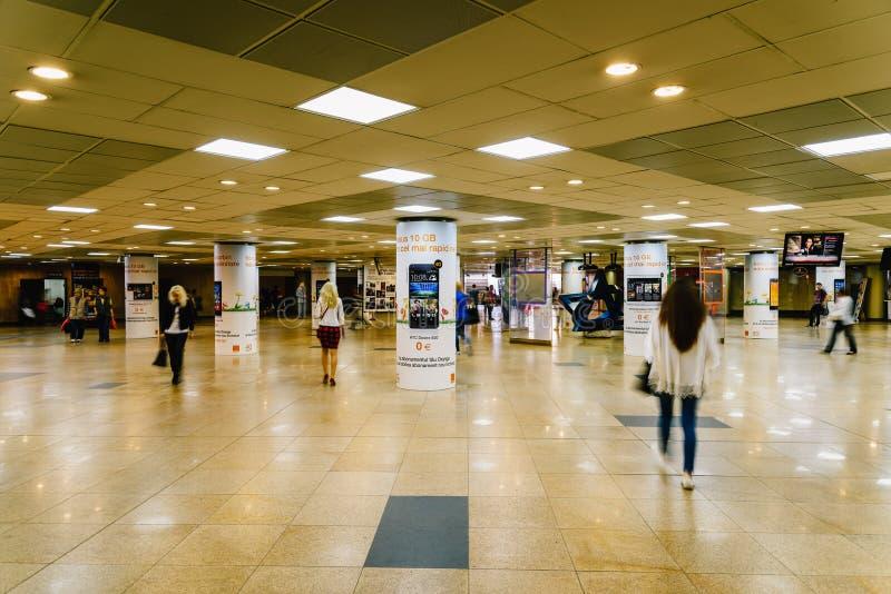 Le passage souterrain d'université à Bucarest images libres de droits